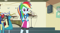 Rainbow Dash confused in band room EG3