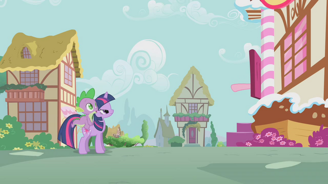 File:Pinkie Pie beckoning to Twilight and Spike S1E09.png