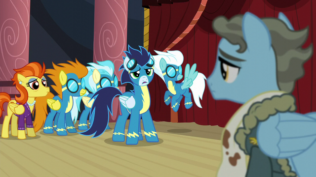 "File:Soarin ""Wonderbolts look out for each other!"" S5E15.png"