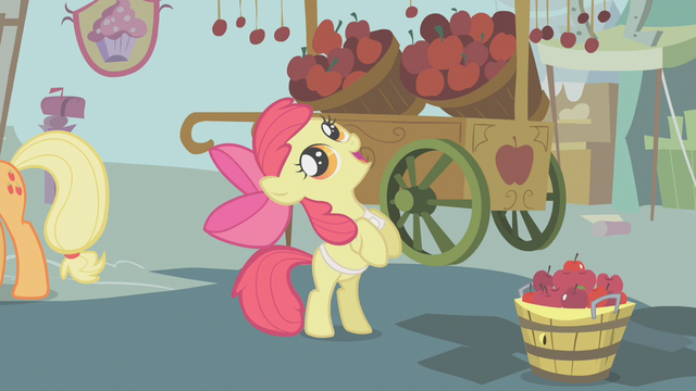 File:Apple Bloom looks up at an apple S1E12.png