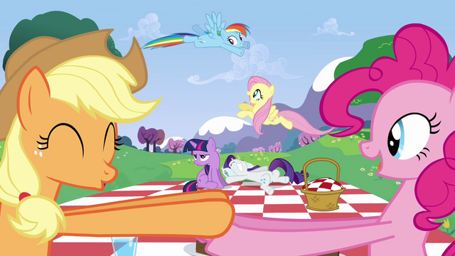 File:Everypony excited about the wedding S2E25.png