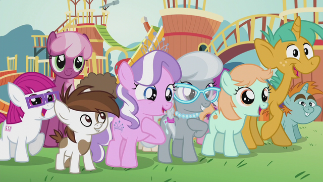 "File:Diamond Tiara ""it's your cutie marks!"" S5E18.png"