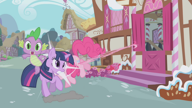 File:Pinkie Pie crashes into Twilight S1E03.png