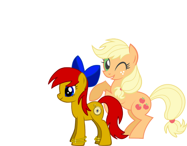 File:FANMADE Timey Wimey and Applejack.png