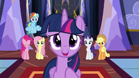 Twilight welcomes the yaks to Equestria S5E11