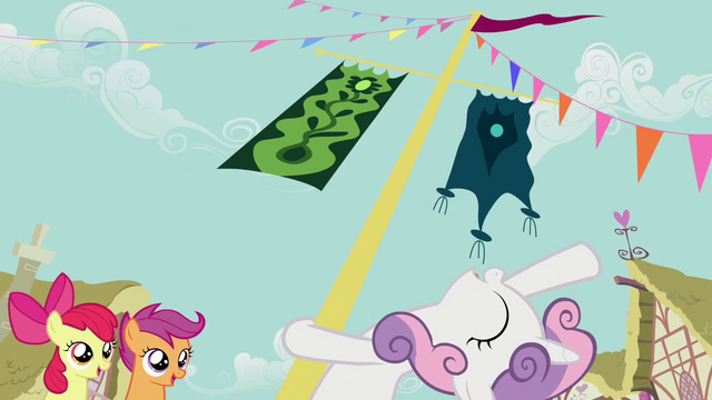 File:Sweetie Belle leaning back from flagpole S2E17.png