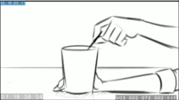 EG3 animatic - Sunset continues stirring her drink EG3