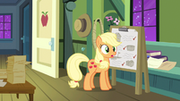 Applejack hears snoring S3E8