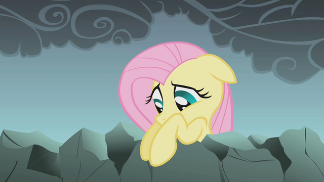 File:Fluttershy looks down at her friends S1E07.png