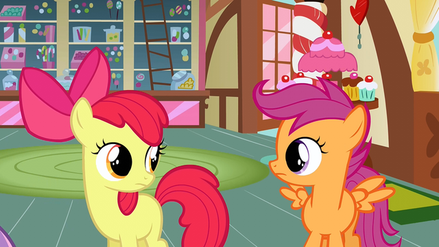 File:Scootaloo & Apple Bloom she serious S2E17.png