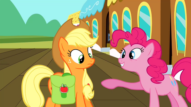 File:Pinkie Pie talking to Applejack S2E14.png