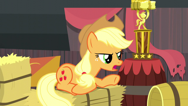 File:Applejack punishing the Crusaders S5E6.png