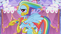 Rainbow Dash's custom Gala dress S1E14