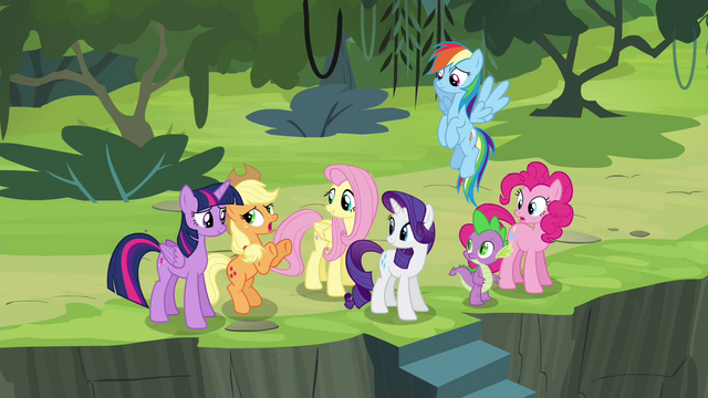 """File:Applejack mentions """"another 'friend' of ours"""" S4E25.png"""