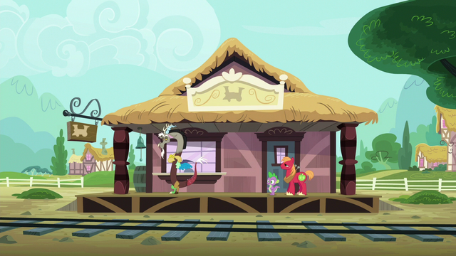 File:Discord, Spike, and Big Mac at the train station S6E17.png