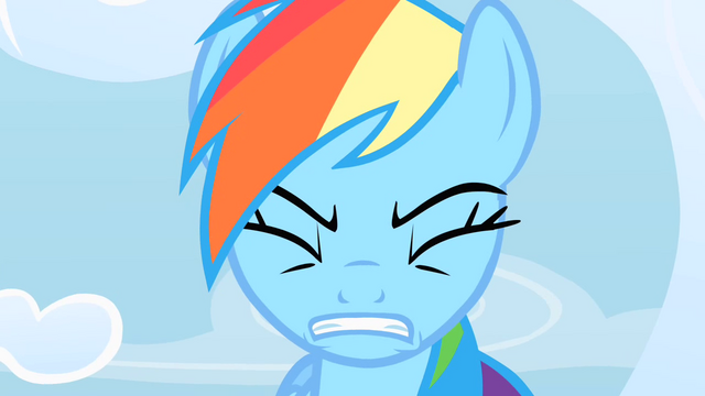 File:Rainbow Dash trying to cope with the pressure S1E16.png