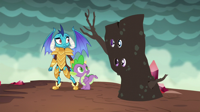 File:Twilight and Rarity appear next to Spike and Ember S6E5.png