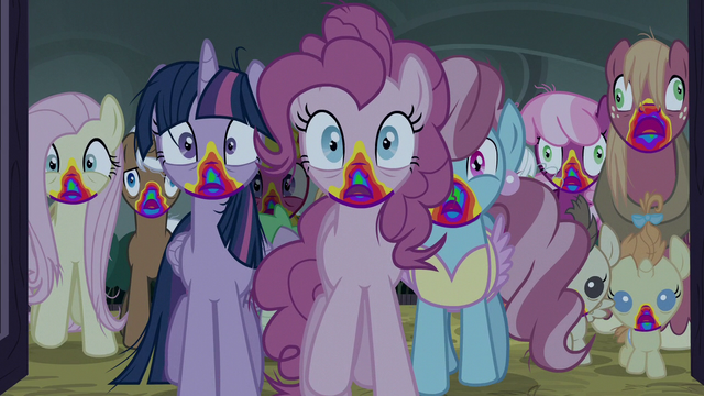 File:The ponies enter the barn S6E15.png