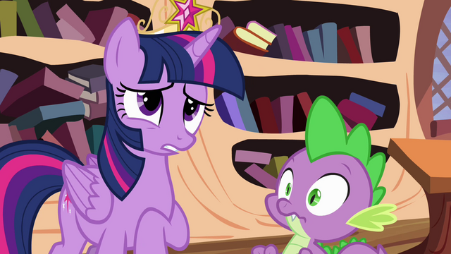 File:Twilight nervous and Spike about to crack S4E01.png