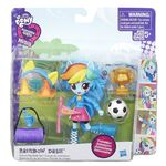 Equestria Girls Minis Rainbow Dash School Pep Rally Set packaging