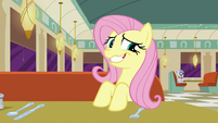 Fluttershy grinning awkwardly S6E9
