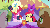 Apple Bloom asks about Orchard Blossom's voice S5E17