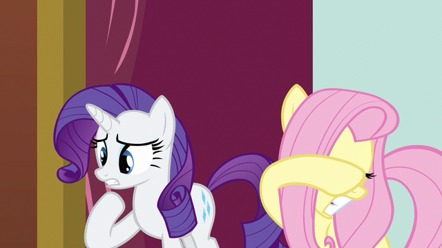 File:Rarity & Fluttershy not enjoying this S3E3.png