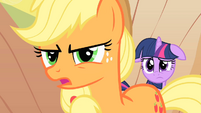 Applejack tries to talk to Braeburn S1E21