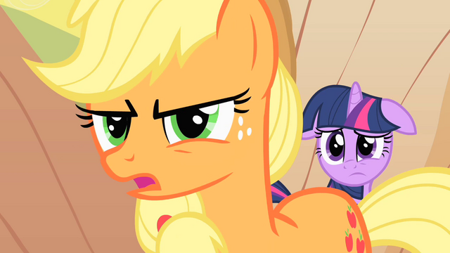 File:Applejack tries to talk to Braeburn S1E21.png