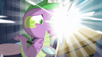 Spike getting sucked into the comic book S4E06