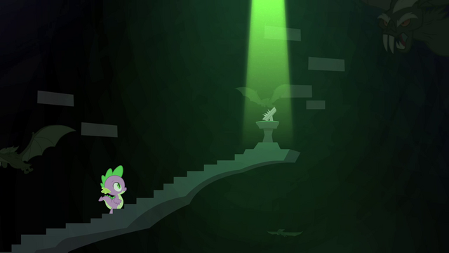 File:The book at the top of the black stairway, castle of the royal pony sisters, S4E23.png