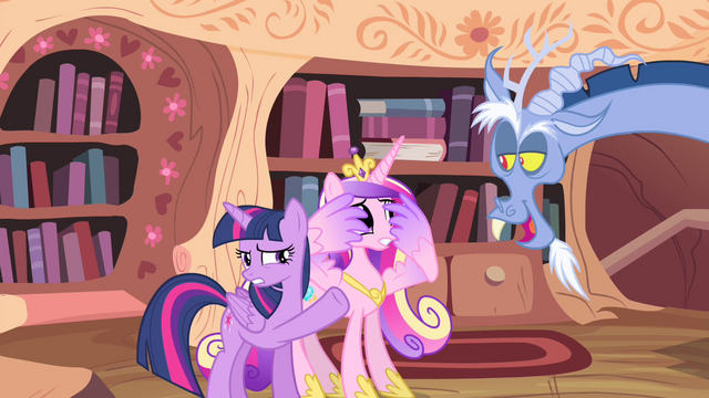File:Discord singing towards Twilight and Cadance S4E11.png