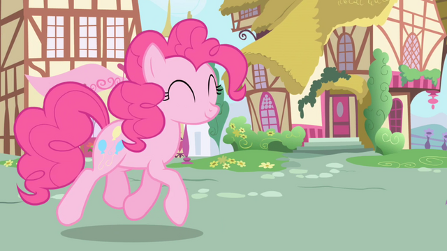 File:Pinkie Pie trotting towards Twilight and Spike S1E01.png