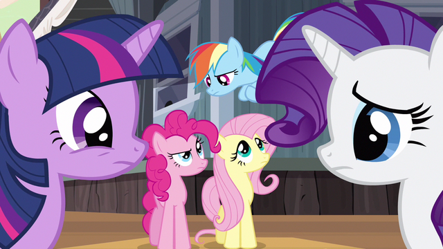 File:Rarity & Rainbow Dash mixed reactions S2E14.png