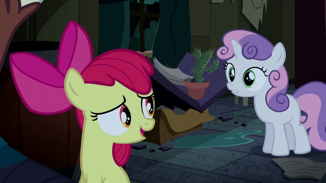 "File:Apple Bloom ""he don't seem so bad"" S5E6.png"