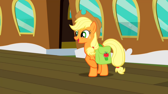 File:Applejack about to leave for Canterlot S2E14.png