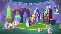 Main cast sees wall crashed by Pinkie S5E19