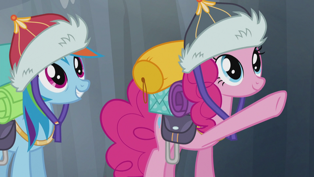 File:Pinkie pointing and Rainbow smiling S5E8.png