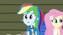 Rainbow Dash sees the Dazzlings appear EG2