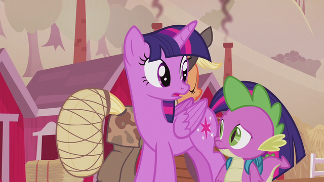File:Twilight and Spike listening to Applejack S5E25.png