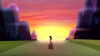 Cheese Sandwich walking into sunset S4E12