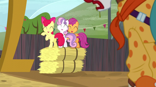 File:Cutie Mark Crusaders laugh at Trouble Shoes S5E6.png
