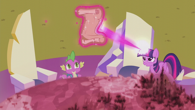 File:Twilight casts magic on Star Swirl's scroll S5E25.png