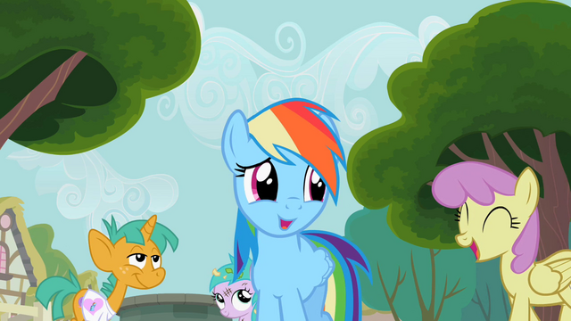 File:Rainbow Dash with this crowd S2E8.png