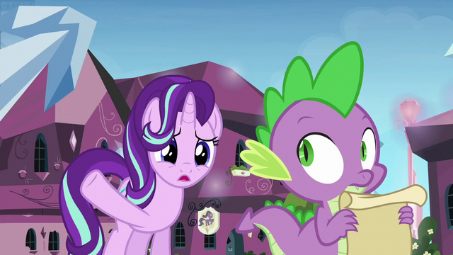 File:Starlight asks Spike about the statue S6E1.png