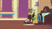Rainbow speeds out of Daring's hotel room S6E13