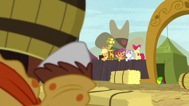 File:Cutie Mark Crusaders wave at Trouble Shoes S5E6.png