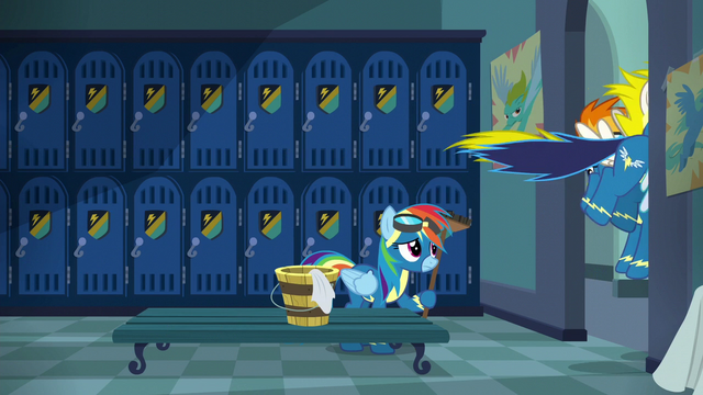 File:Rainbow left alone in the locker room S6E7.png