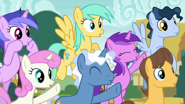 File:Spectating ponies cheering loudly S6E14.png