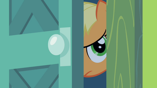 File:Applejack peeking through door crack S2E06.png